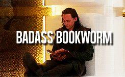 Badass Bookworm || Loki Laufeyson || Thor TDW || 245px × 152px || #animated #tropes
