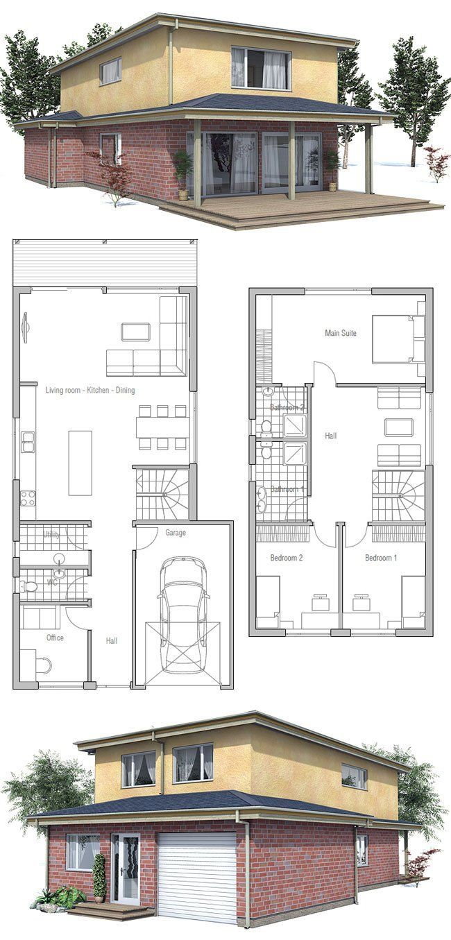 26 Best Small Narrow Plot House Plans Images On Pinterest