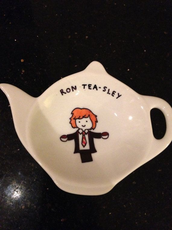 Harry Potter themed tea bag tidy by madebymegane on Etsy