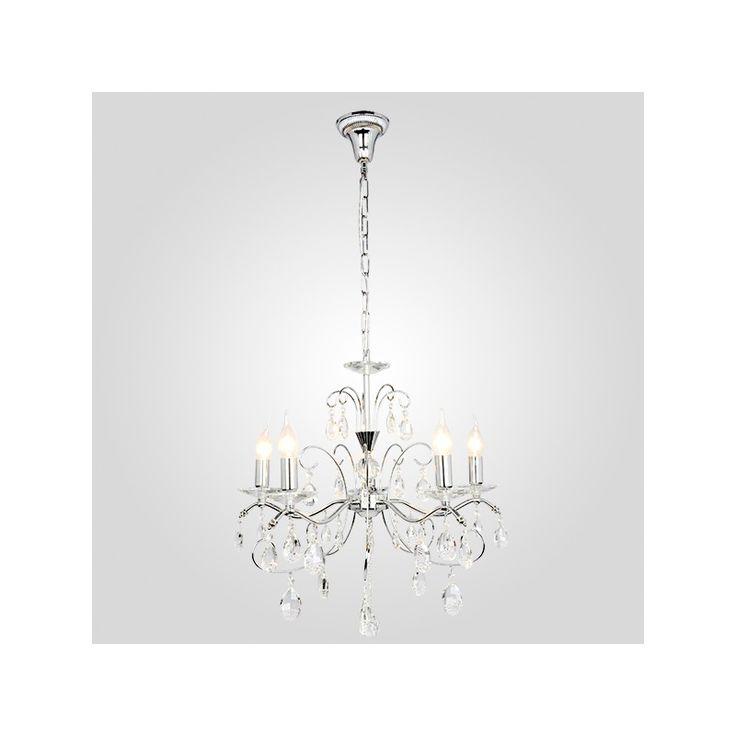 Żyrandol kryształowy QUEEN 5 chrom lampa Eurostar 10059/5