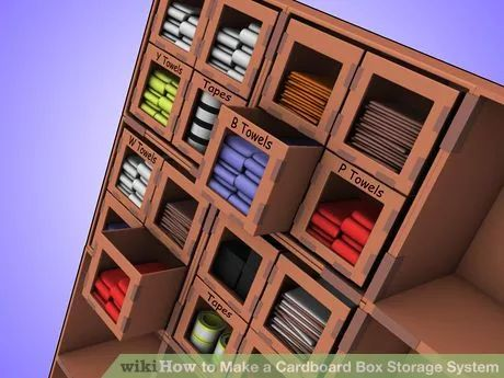 Image titled Make a Cardboard Box Storage System Step 4Bullet4