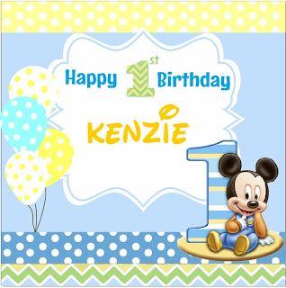 Sanggar Badut Sulap: Tema Banner Ulang Tahun Baby Mickey Mouse