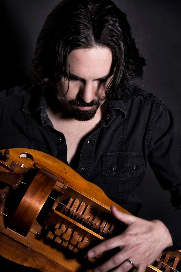 Bear McCreary loves traditional instruments such as this hurdy gurdy