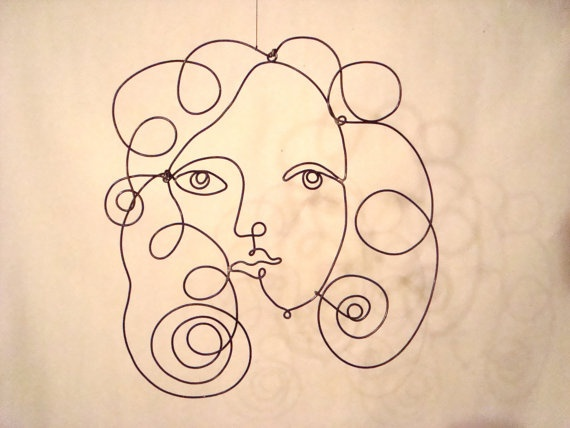 Contour Line Drawing Face : 52 best wire and continuous line contour faces images on pinterest