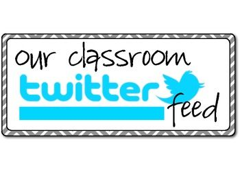 "Classroom ""Twitter Feed"" Bulletin Board Set I think I may use this as an end of the day exit slip"