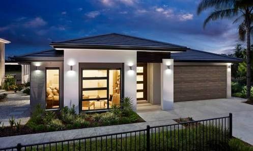 ผลการค้นหารูปภาพสำหรับ contemporary single story house facades australia