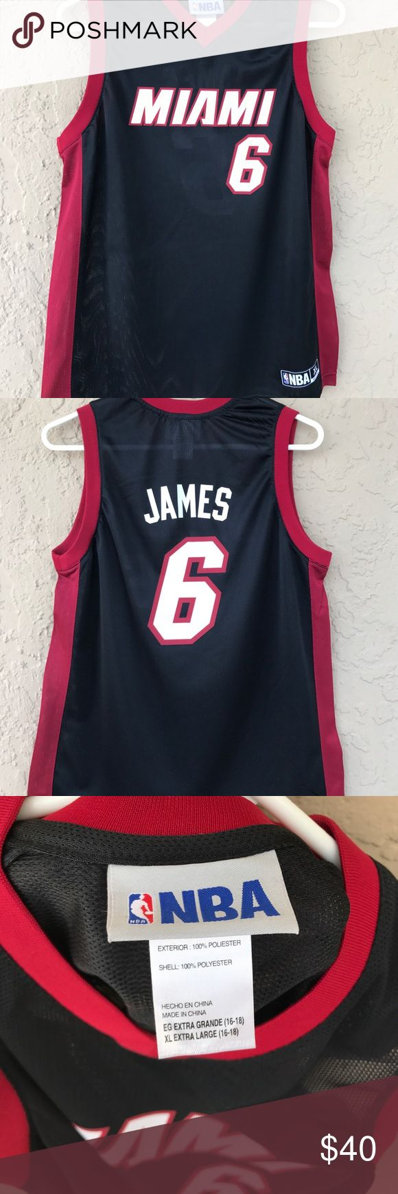 EUC! LeBron James #6 NBA Jersey EUC!! #6 James Jersey... Like New!!! opt Shirts & Tops Tees - Short Sleeve
