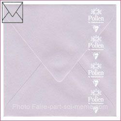 20 Enveloppes Pollen 140 x 140 Rose Poudre Irisé