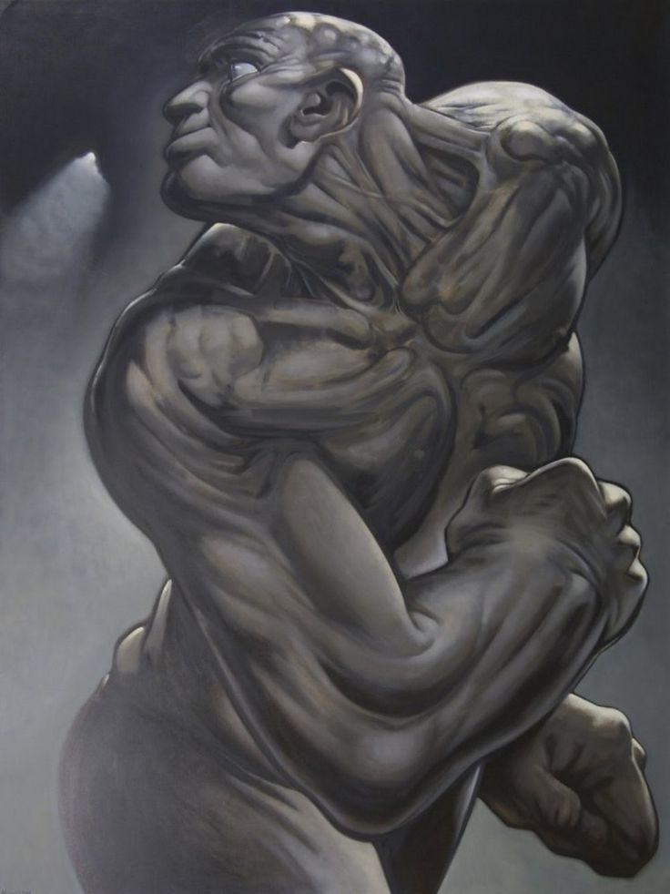 Peter Howson 'Tiras', 1997, 244x183cm, oil on canvas.