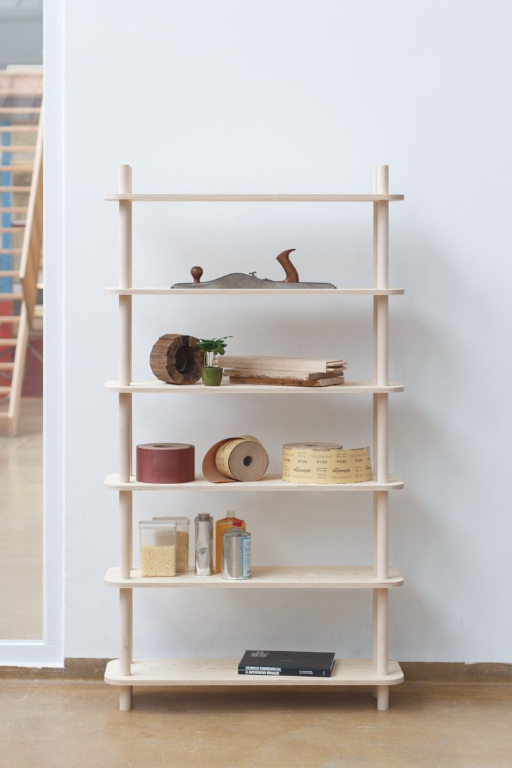 A Modular Shelving System That Relies on Threaded Wooden Rods - Core77