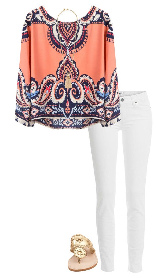 """""""cute outfit"""" by sassy-and-southern ❤ liked on Polyvore featuring Paige Denim, Jack Rogers and J.Crew"""