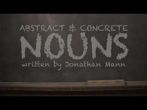Concrete & Abstract Nouns Music Video - YouTube                                                                                                                                                                                 Más