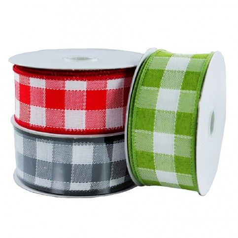 Add a decorative touch this holiday season with this year's collection of Gingham Wired Ribbons. available at  b2bwraps.com