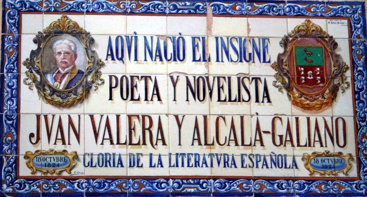 "#Córdoba - #Cabra - Juan Valera - 37º 28' 19"" -4º 26' 40"" Hijo destacado de Cabra es el escritor del siglo XIX Juan Valera, miembro de la Real Academia Española y autor de la novela Pepita Jiménez."