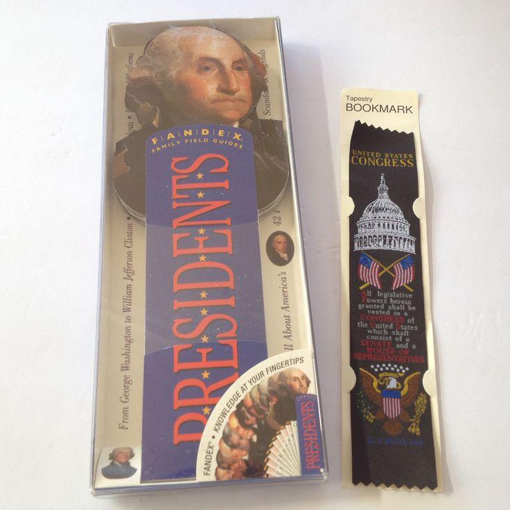 NEW AMERICAN USA PRESIDENTS FANDEX & US CONGRESS TAPESTRY BOOKMARK -PATRIOT GIFT #FANDEX
