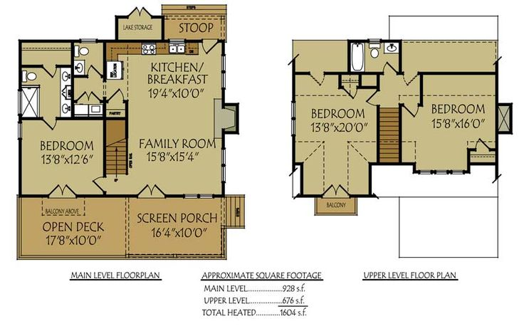 Small bungalow cottage house plan with porches and photos for Small lake house plans with screened porch