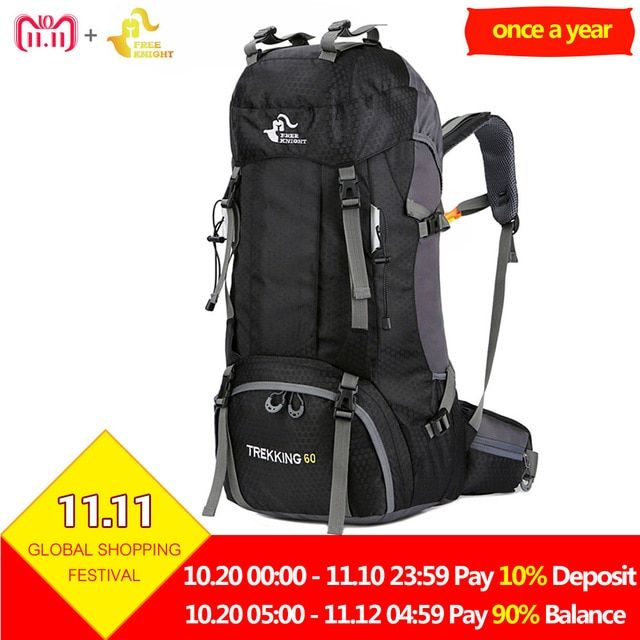 773c02da4d5a Free Knight 60L Waterproof Outdoor Sport Backpack Camping Hiking Bag ...