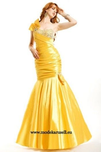 Abendkleid in Gelb