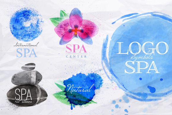 Check out Set symbols spa by Anna on Creative Market