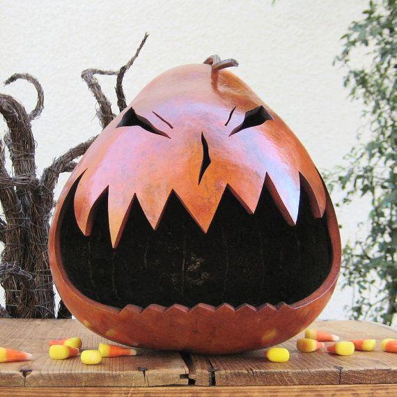 Halloween Gourd Jack O Lantern Natural Fall Harvest Pumpkin Decoration