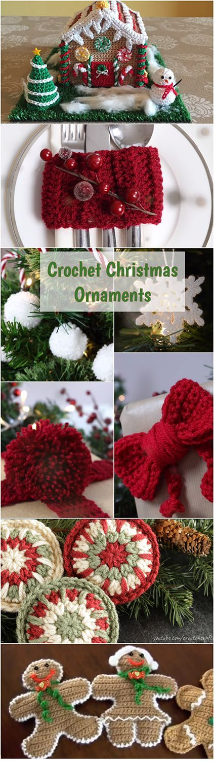 Learn how to crochet some amazing Christmas ornaments, free DIY decorations and other ideas for beginners by following step by step video tutorials! | Crochet Tutorials For Beginners | Crochet Stitches For Beginners | Free Crochet Videos | Crochet Christmas Ornaments Free Decorations | Crochet Blankets For Beginners | DIY Crochet Projects For Christmas | Crochet Patterns |Crochet For Beginners | Crochet Patterns | Crochet Stitches | DIY Crochet | #crochetlove #crochet #Christmas #DIY