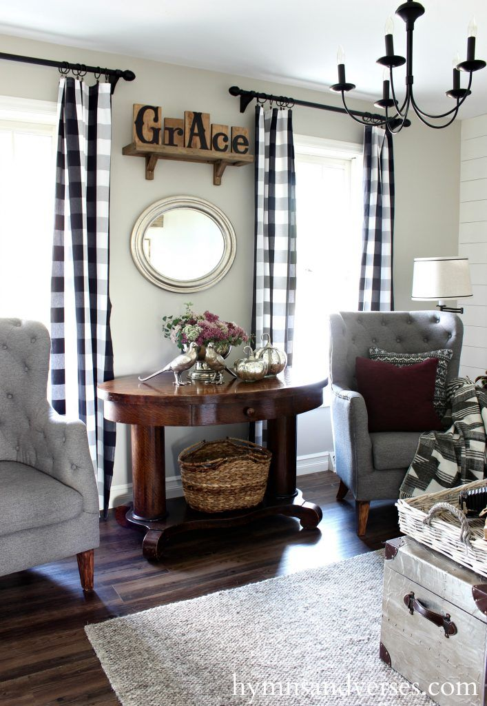 fall-living-room-grace-sign - Foraged Fall Home Tour