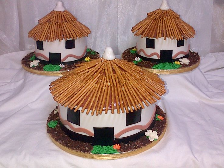 Traditional African Hut wedding Cake