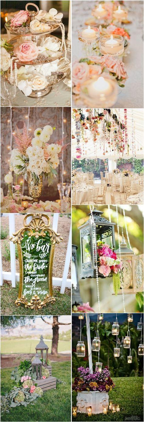 rustic chic vinatge wedding decor ideas - Deer Pearl Flowers