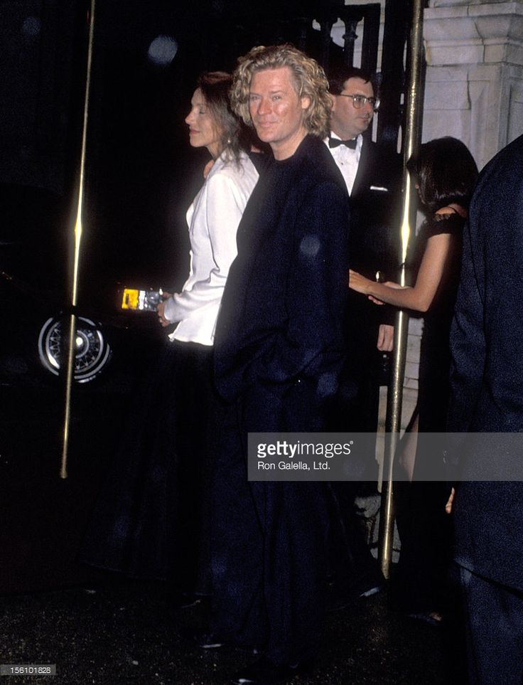 Musician Daryl Hall of Hall and Oates and guest attend the 'Wedding of Mariah Carey and Tommy Mottola' on June 5, 1993 at St. Thomas Episcopal Church in New York City, New York.