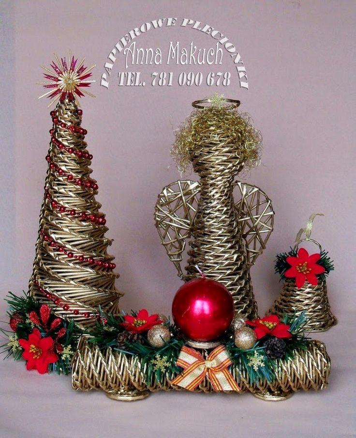 Papierowe plecionki: Bożonarodzeniowe impresje