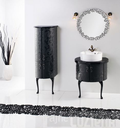 PIANO black bathroom furniture #meble #lazienkowe #washbasin #umywalka #fajna #lazienka # sanitti
