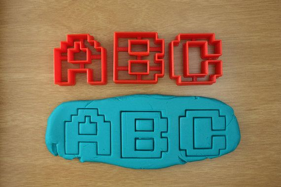 Alphabet Cookie Cutters - Pixel Letters Cutter | Geek Home