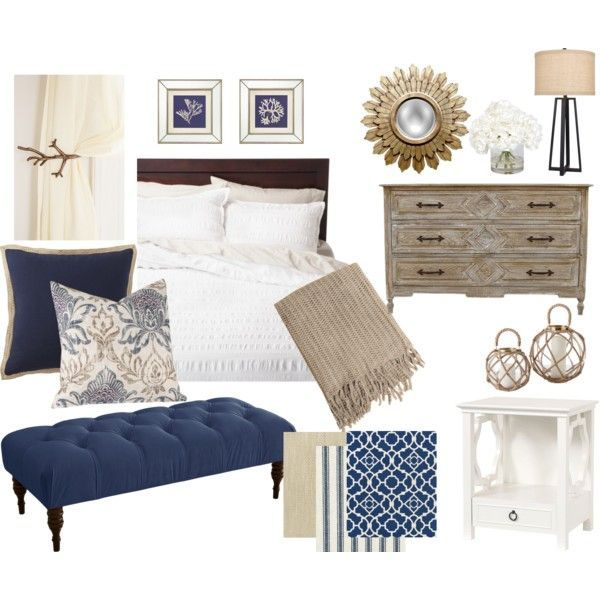 Navy Blue and Khaki Bedroom