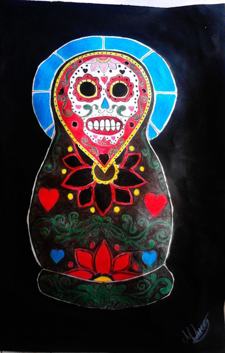 matroska sugar skull style