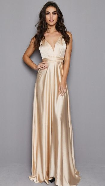 Moon Dance Maxi Dress in Champagne
