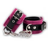 Ancle cuffs - pink - leather
