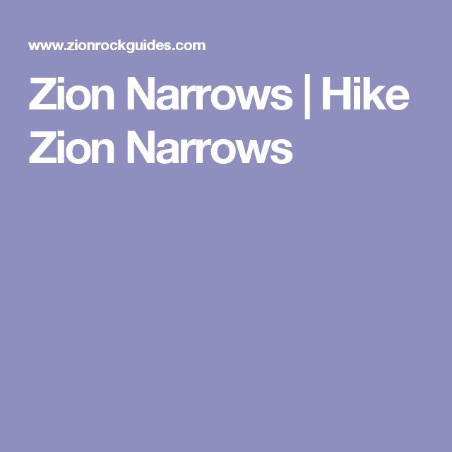 Zion Narrows   Hike Zion Narrows