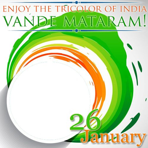 Create Republic of India Vande Mataram Frame With Your Photo.Generate Photo Frame For Republic Day.26th January Special Photo Frame With Your Photo.Edit Frame Online With Custom Photo.I Love India Frame With Your Photo.Indian Flag With Your Photo Generator.Edit Your Photo With Happy Republic Day 26th January 2016 Celebration Wallpaper Frame Online and Set as Profile Picture and Download Full Photo To Mobile For Free.Online Photo Frame Making Tool For Republic Day 2016 Celebration.3D Indian…