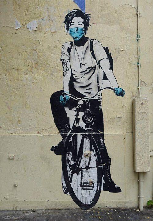 Parigi, Francia: nuova opera dello street artist statunitense Eddie Colla