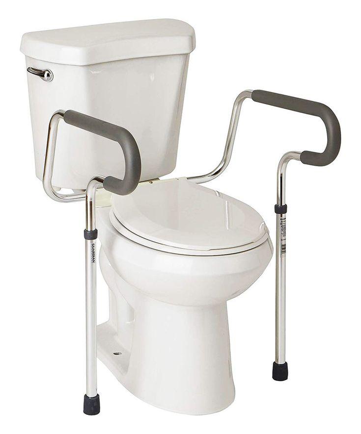 Grab bars safety adjustable toilet rail seat handicap