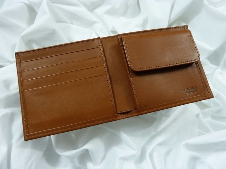 NEW COACH Men's Leather Coin Wallet #4829 British Tan ~ CLOSE TO VINTAGE!  #Coach #Bifold