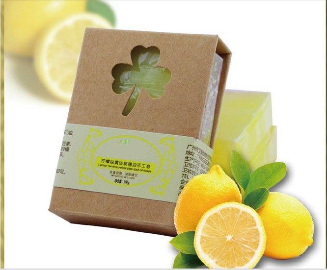 Lemon Soap Lemon Essential Oil Whitening Acne Oil Control Natural handmade Soap Whitening Removing Acne  Desalt Blain Mark