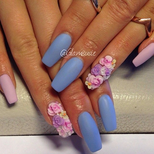 Best 25 3d acrylic nails ideas on pinterest 3d nail art 3d matte and florals nailart find this pin and more on acrylic nail designs prinsesfo Images