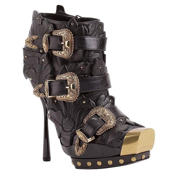 Western Buckle Boots - Alexander McQueen Shoes