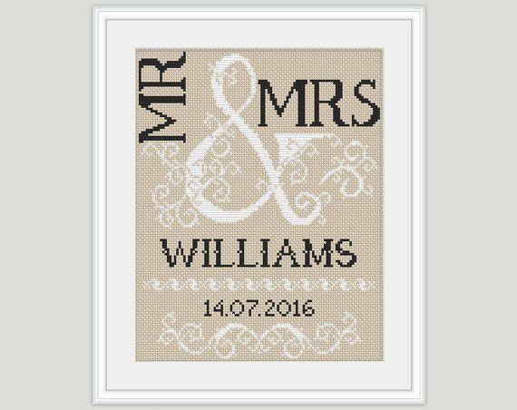 Wedding Cross Stitch Pattern  Scheme for от PatternsTemplates
