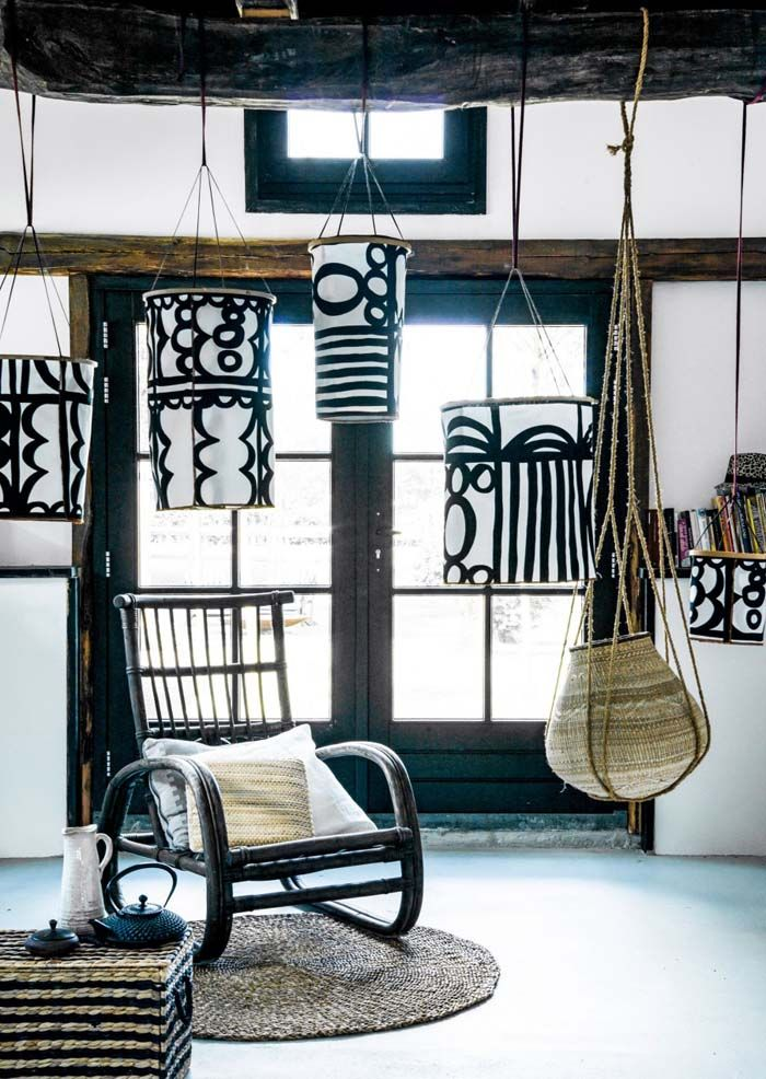 Embroidery hoops are a nice base for a handmade lantern. Add some nice fabric like this REVVIVA from IKEA and you're set!