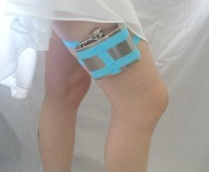 wedding day flask...something blue!