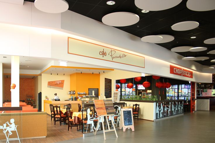 Restaurant ceiling made with Vecta Design stretch ceilings