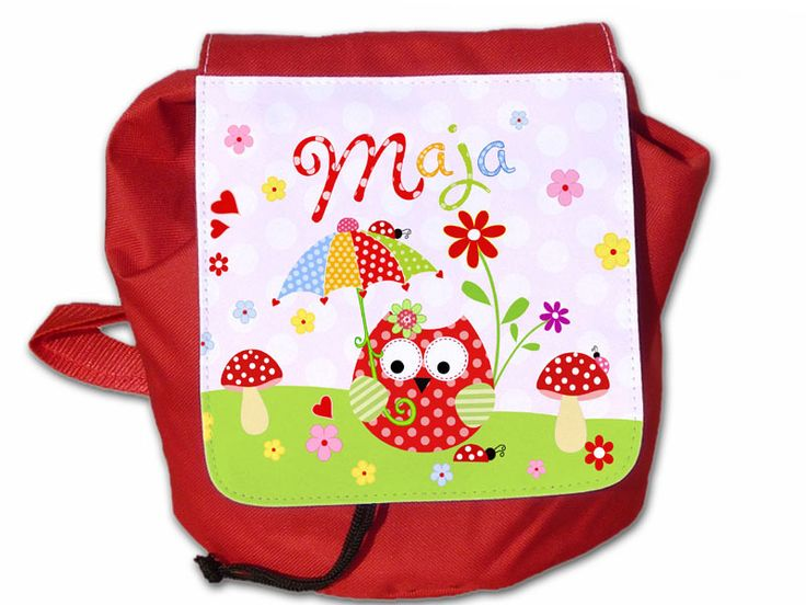 Kinderrucksack mit Namen von ginidesign-shop auf DaWanda.com