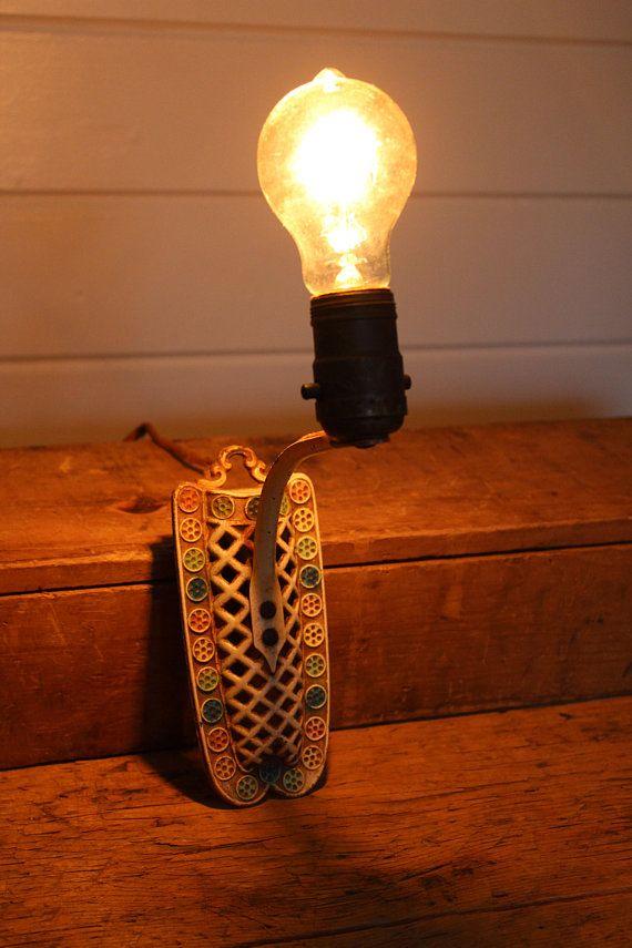 Awe Inspiring Vintage Hanging Plug In Sconce Light Fixture Rusty Metal Single Wiring Digital Resources Ntnesshebarightsorg